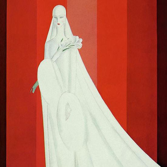 Eduardo Garcia Benito Vogue Cover 1928-02-15 Copyright crop | Best of 1920s Ad and Cover Art