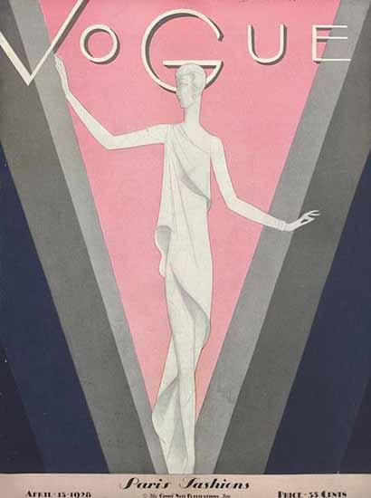 Eduardo Garcia Benito Vogue Cover 1928-04-15 Copyright | Vogue Magazine Graphic Art Covers 1902-1958