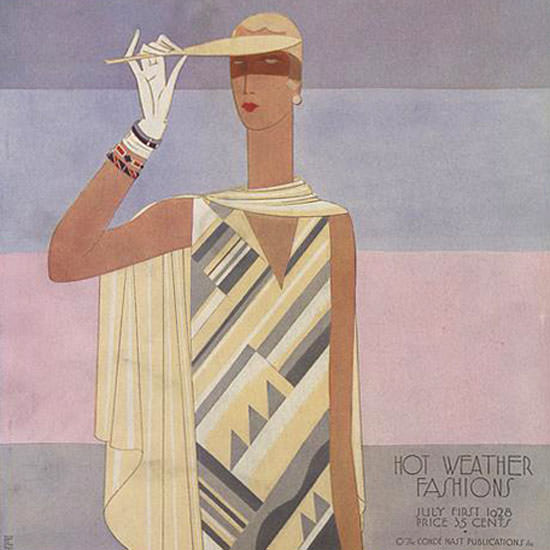 Eduardo Garcia Benito Vogue Cover 1928-07-01 Copyright crop | Best of Vintage Cover Art 1900-1970
