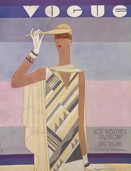 Eduardo Garcia Benito Vogue Cover 1928-07-01 Copyright | Vogue Magazine Graphic Art Covers 1902-1958