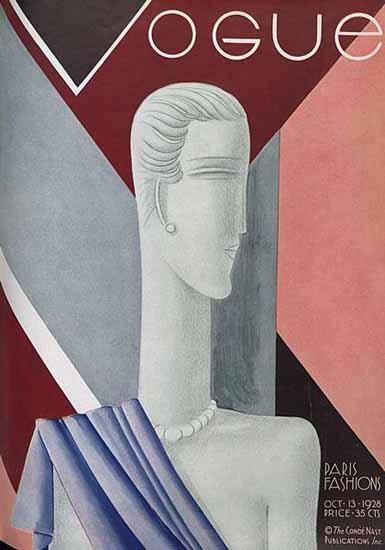 Eduardo Garcia Benito Vogue Cover 1928-10-13 Copyright | Vogue Magazine Graphic Art Covers 1902-1958