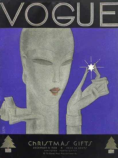 Eduardo Garcia Benito Vogue Cover 1928-12-08 Copyright | Vogue Magazine Graphic Art Covers 1902-1958