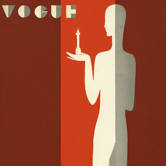 Eduardo Garcia Benito Vogue Cover 1929-04-17 Copyright crop | Best of 1920s Ad and Cover Art