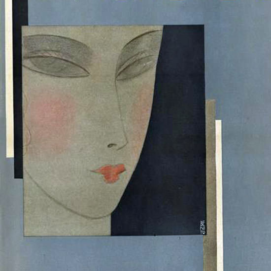 Eduardo Garcia Benito Vogue Cover 1929-11-09 Copyright crop | Best of 1920s Ad and Cover Art