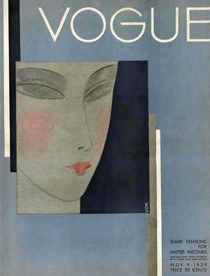Eduardo Garcia Benito Vogue Cover 1929-11-09 Copyright | Vogue Magazine Graphic Art Covers 1902-1958