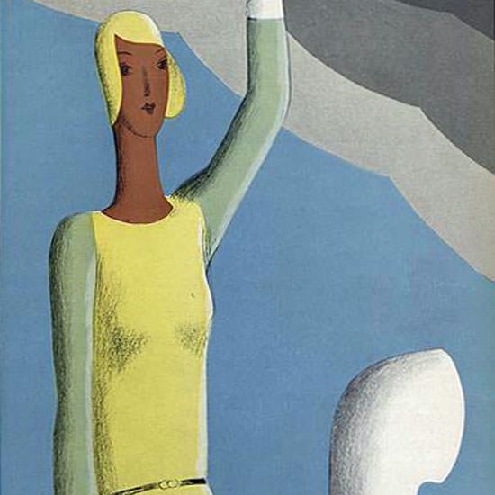 Eduardo Garcia Benito Vogue Cover 1929-12-21 Copyright crop | Best of 1920s Ad and Cover Art