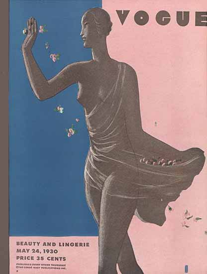 Eduardo Garcia Benito Vogue Cover 1930-05-24 Copyright | Vogue Magazine Graphic Art Covers 1902-1958