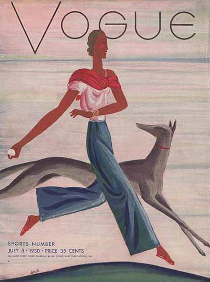 Eduardo Garcia Benito Vogue Cover 1930-07-05 Copyright | Vogue Magazine Graphic Art Covers 1902-1958