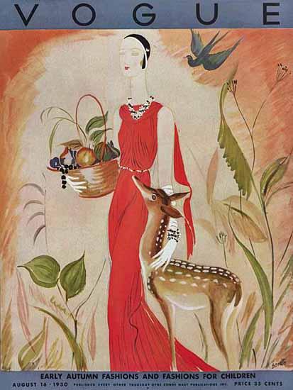 Eduardo Garcia Benito Vogue Cover 1930-08-16 Copyright | Vogue Magazine Graphic Art Covers 1902-1958