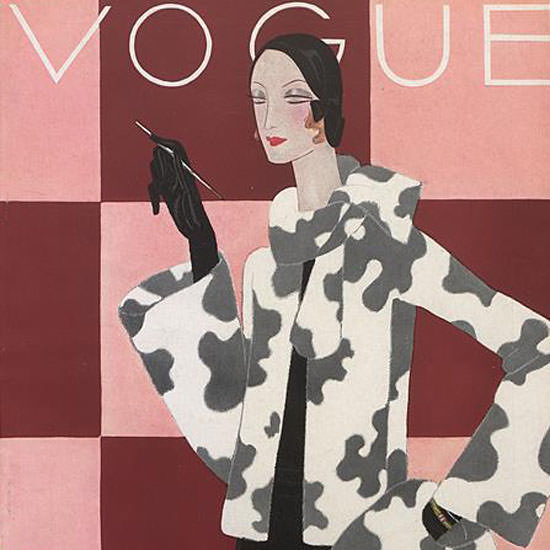 Eduardo Garcia Benito Vogue Cover 1930-10-27 Copyright crop | Best of Vintage Cover Art 1900-1970