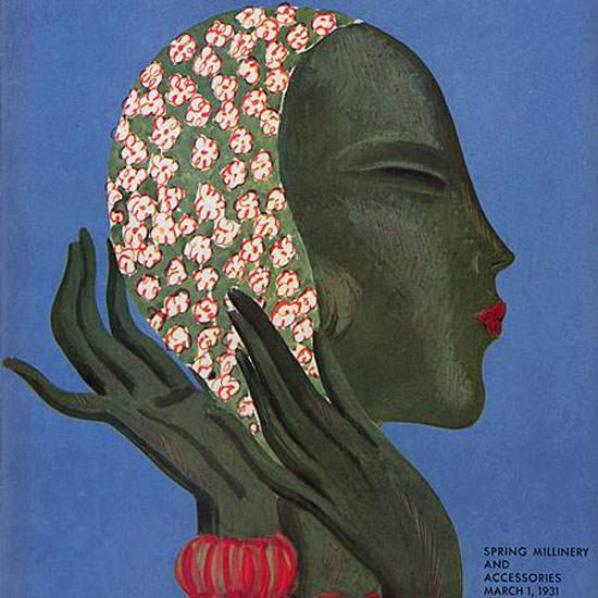 Eduardo Garcia Benito Vogue Cover 1931-03-01 Copyright crop | Best of 1930s Ad and Cover Art