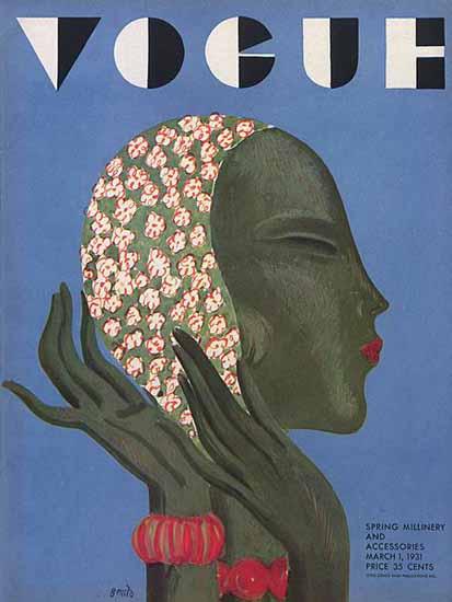Eduardo Garcia Benito Vogue Cover 1931-03-01 Copyright | Vogue Magazine Graphic Art Covers 1902-1958