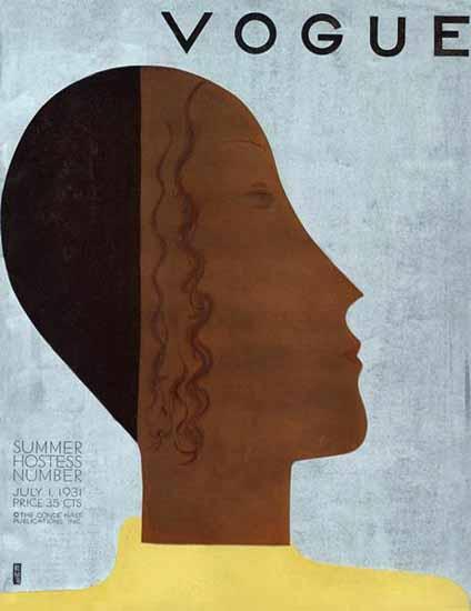Eduardo Garcia Benito Vogue Cover 1931-07-01 Copyright   Vogue Magazine Graphic Art Covers 1902-1958