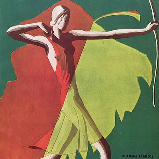 Eduardo Garcia Benito Vogue Cover 1931-09-01 Copyright crop | Best of 1930s Ad and Cover Art