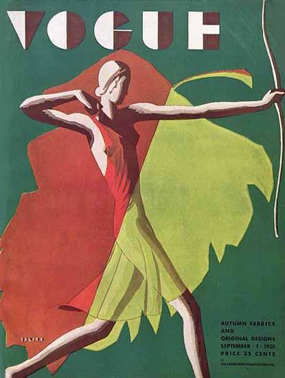 Eduardo Garcia Benito Vogue Cover 1931-09-01 Copyright | Vogue Magazine Graphic Art Covers 1902-1958