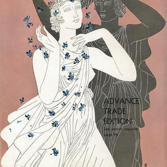 Eduardo Garcia Benito Vogue Cover 1932-02-01 Copyright crop | Best of Vintage Cover Art 1900-1970