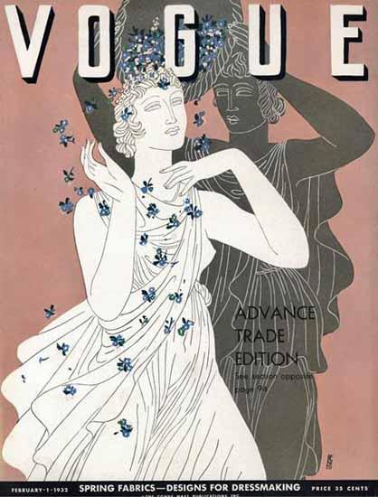 Eduardo Garcia Benito Vogue Cover 1932-02-01 Copyright | Vogue Magazine Graphic Art Covers 1902-1958
