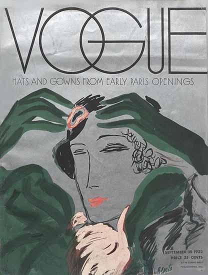 Eduardo Garcia Benito Vogue Cover 1932-09-15 Copyright   Vogue Magazine Graphic Art Covers 1902-1958
