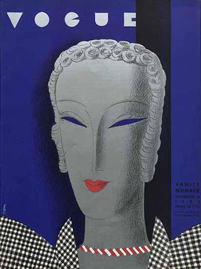 Eduardo Garcia Benito Vogue Cover 1932-11-15 Copyright   Vogue Magazine Graphic Art Covers 1902-1958