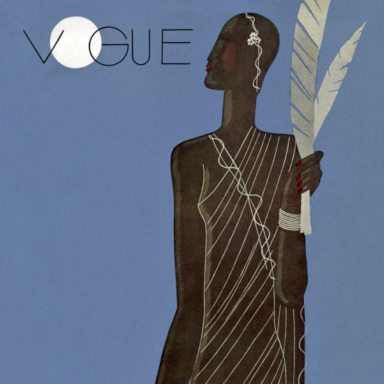 Eduardo Garcia Benito Vogue Cover 1933-01-11 Copyright crop | Best of Vintage Cover Art 1900-1970