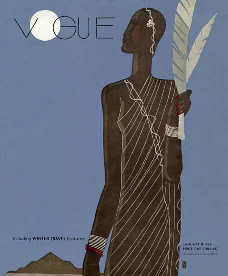 Eduardo Garcia Benito Vogue Cover 1933-01-11 Copyright | Vogue Magazine Graphic Art Covers 1902-1958