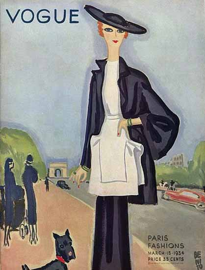 Eduardo Garcia Benito Vogue Cover 1934-03-15 Copyright | Vogue Magazine Graphic Art Covers 1902-1958