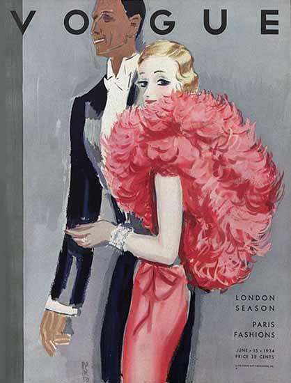 Eduardo Garcia Benito Vogue Cover 1934-06-15 Copyright | Vogue Magazine Graphic Art Covers 1902-1958