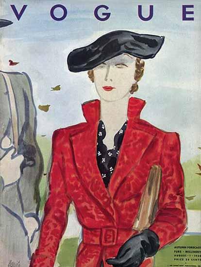 Eduardo Garcia Benito Vogue Cover 1934-08-01 Copyright | Vogue Magazine Graphic Art Covers 1902-1958