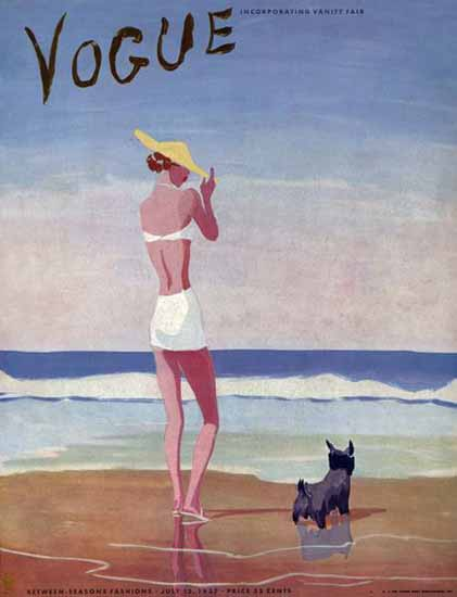 Eduardo Garcia Benito Vogue Cover 1937-07-15 Copyright Sex Appeal | Sex Appeal Vintage Ads and Covers 1891-1970