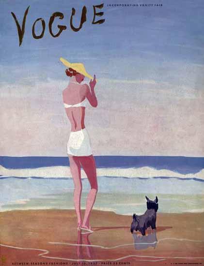 Eduardo Garcia Benito Vogue Cover 1937-07-15 Copyright   Vogue Magazine Graphic Art Covers 1902-1958