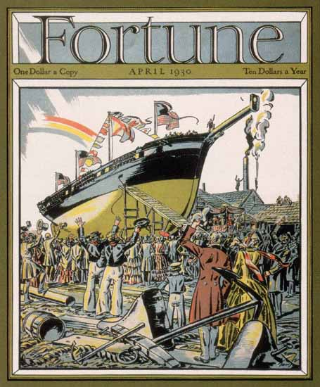 Edward A Wilson Fortune Magazine April 1930 Copyright | Fortune Magazine Graphic Art Covers 1930-1959