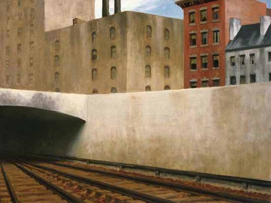 Edward Hopper Approaching a City 1946 | Edward Hopper Paintings, Aquarelles, Illustrations, Ads 1900-1966