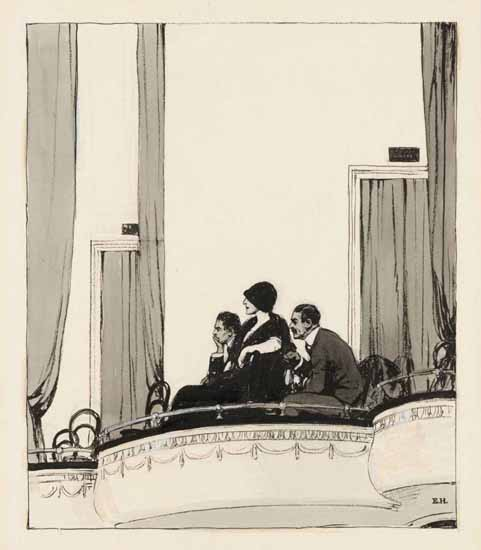 Edward Hopper At the Theater 1916 | Edward Hopper Paintings, Aquarelles, Illustrations, Ads 1900-1966