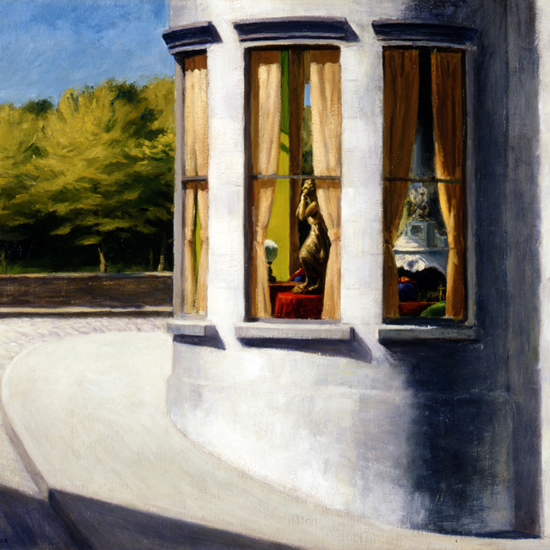 Edward Hopper August in the City 1945 crop A | Edward Hopper Paintings, Aquarelles, Illustrations, Ads 1900-1966