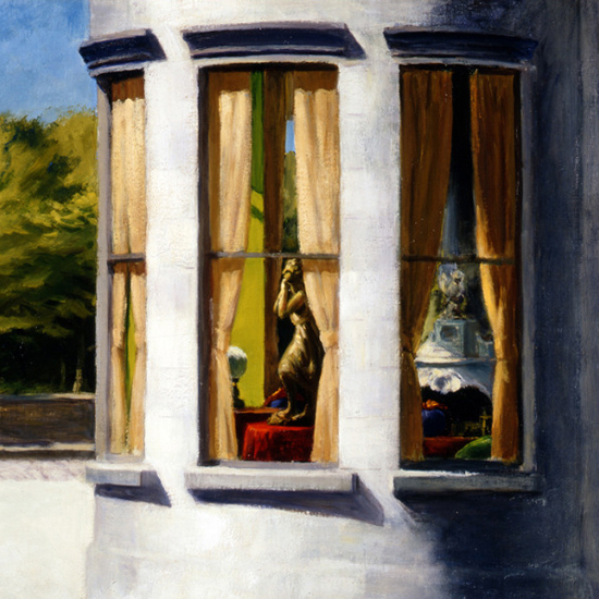 Edward Hopper August in the City 1945 crop B | Edward Hopper Paintings, Aquarelles, Illustrations, Ads 1900-1966