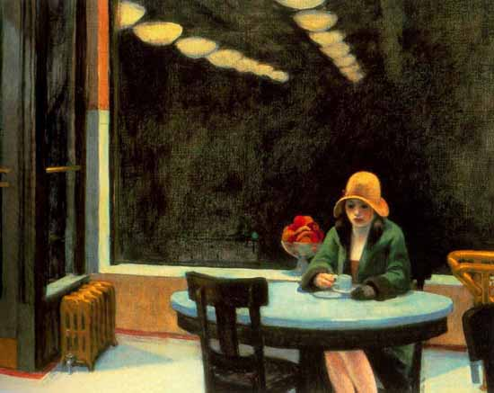 Edward Hopper Automat 1927 | Edward Hopper Paintings, Aquarelles, Illustrations, Ads 1900-1966