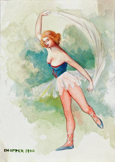 Edward Hopper Ballerina 1900 | Edward Hopper Paintings, Aquarelles, Illustrations, Ads 1900-1966