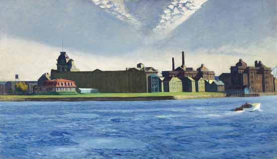Edward Hopper Blackwells Island 1928 | Edward Hopper Paintings, Aquarelles, Illustrations, Ads 1900-1966