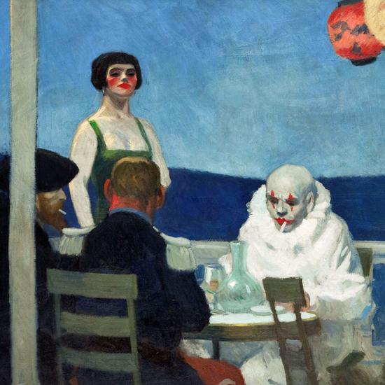Edward Hopper Blue Night 1914 crop   Edward Hopper Paintings, Aquarelles, Illustrations, Ads 1900-1966