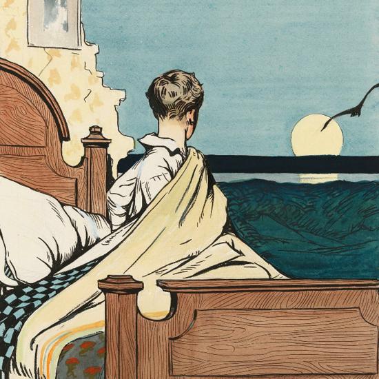 Edward Hopper Boy and Moon 1907 crop   Edward Hopper Paintings, Aquarelles, Illustrations, Ads 1900-1966