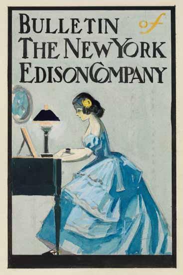 Edward Hopper Bulletin of the New York Edison Company 1907 A | Edward Hopper Paintings, Aquarelles, Illustrations, Ads 1900-1966