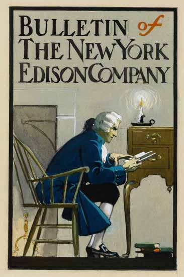Edward Hopper Bulletin of the New York Edison Company 1907 B | Edward Hopper Paintings, Aquarelles, Illustrations, Ads 1900-1966