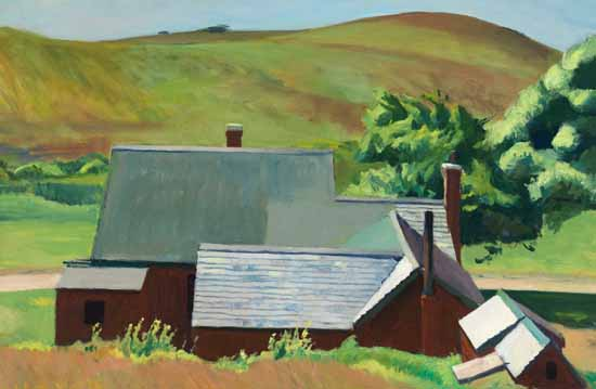 Edward Hopper Burly Cobbs House South Truro 1930-33 | Edward Hopper Paintings, Aquarelles, Illustrations, Ads 1900-1966