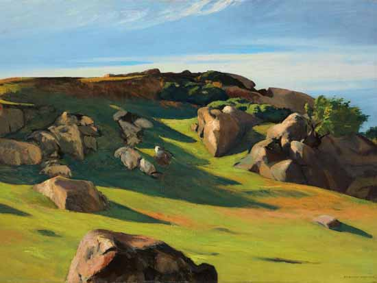 Edward Hopper Cape Ann Granite 1928   Edward Hopper Paintings, Aquarelles, Illustrations, Ads 1900-1966