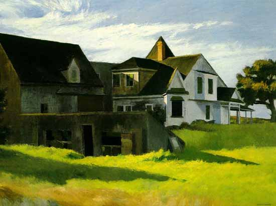 Edward Hopper Cape Cod Afternoon 1936 | Edward Hopper Paintings, Aquarelles, Illustrations, Ads 1900-1966