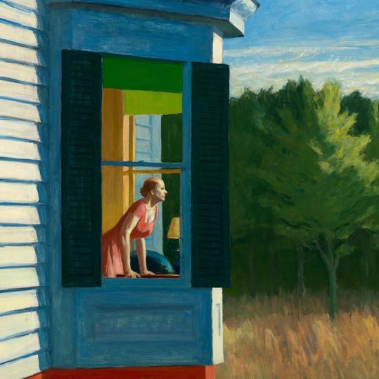 Edward Hopper Cape Cod Morning 1950 crop A   Edward Hopper Paintings, Aquarelles, Illustrations, Ads 1900-1966