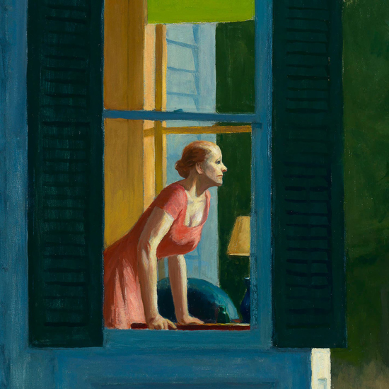 Edward Hopper Cape Cod Morning 1950 crop B | Edward Hopper Paintings, Aquarelles, Illustrations, Ads 1900-1966