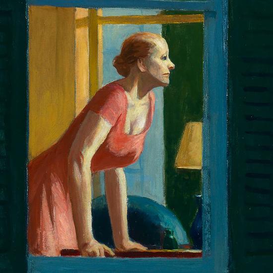 Edward Hopper Cape Cod Morning 1950 crop C | Edward Hopper Paintings, Aquarelles, Illustrations, Ads 1900-1966