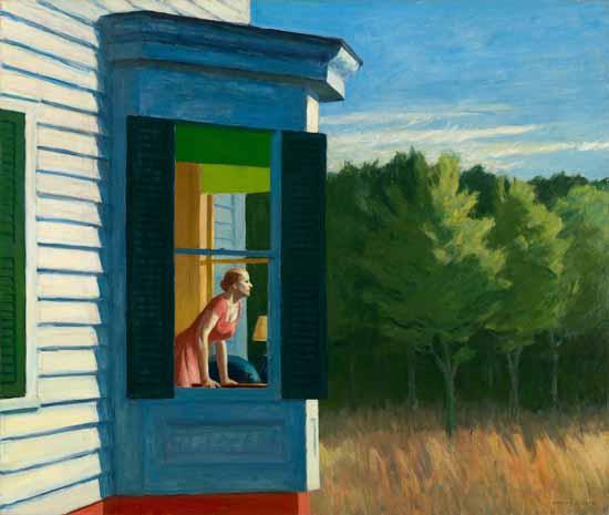 Edward Hopper Cape Cod Morning 1950 | Edward Hopper Paintings, Aquarelles, Illustrations, Ads 1900-1966