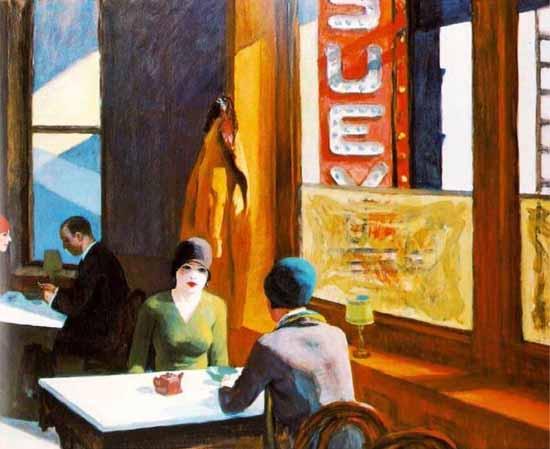 Edward Hopper Chop Suey 1929 | Edward Hopper Paintings, Aquarelles, Illustrations, Ads 1900-1966